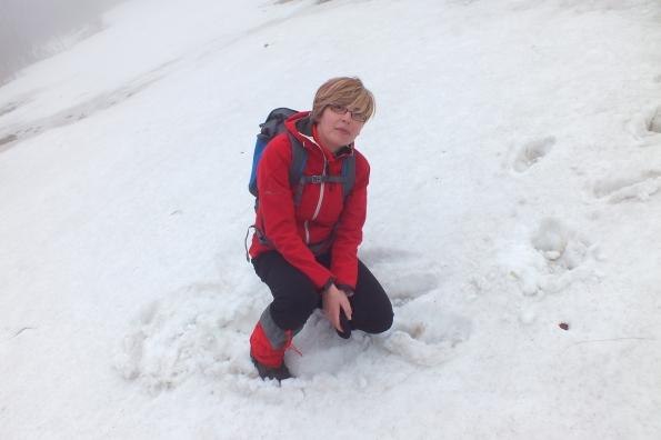 У увалама под врховима Жељина, на малим површима још увек има снега.