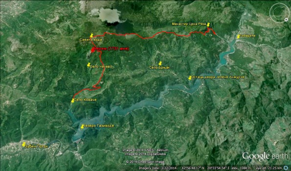 Стаза Коваче - Берим - Црна река: Дужина 25 км, успон 1270, спуст 1230 м. (Фото: Жарко Продановић)