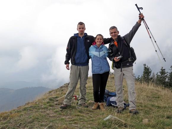 Храбри планинари на врху Кукавица - 1726 мнв