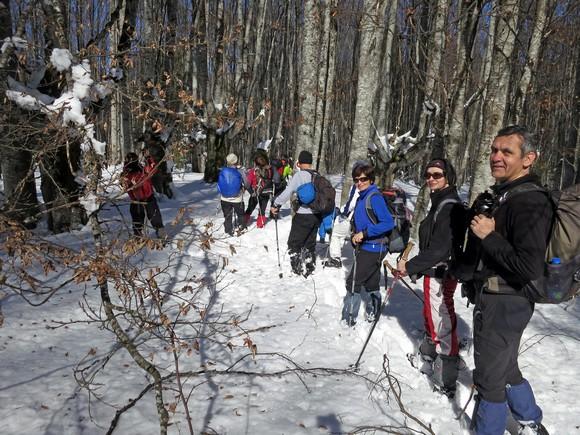 Чаробна букова шума и пуно снега кроз који се тешко пробијамо.